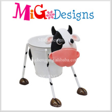 Custom Wholesale Yellow Cow Shaped Metal Pot
